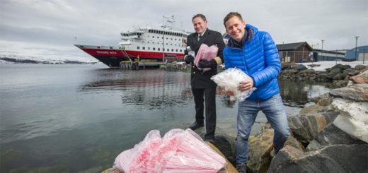 Hurtigruten wird plastikfrei