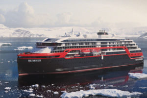 Expeditionsschiff Roald Amundsen von Hurtigruten. Foto: Hurtigruten