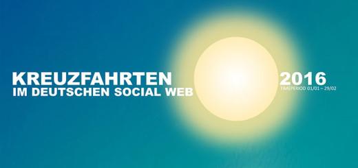 Kreuzfahrten im deutschen Social Web. Foto: linkfluence.com