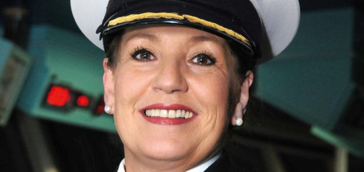 Cunard-Kapitän Inger Klein Thorhauge. Foto: Cunard Line