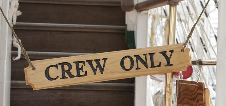 Crew an Bord von Kreuzfahrtschiffen