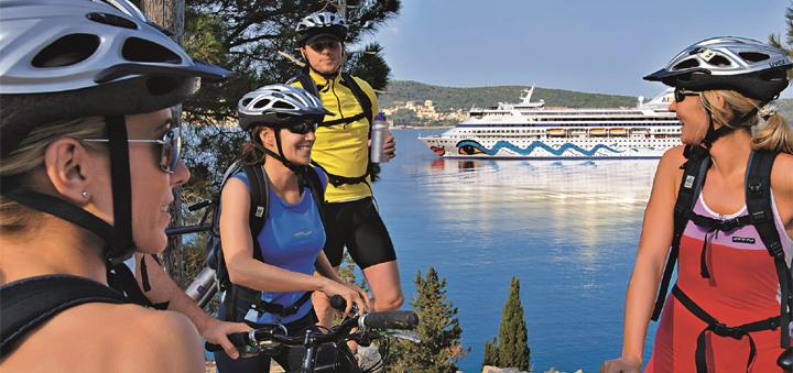 Bike-Tour auf einer Kanaren-Kreuzfahrt mit AIDA. Foto: AIDA Cruises