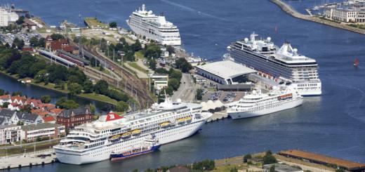 Ostsee-Kreuzfahrthafen in Rostock-Warnemünde. Foto: Rostock Port