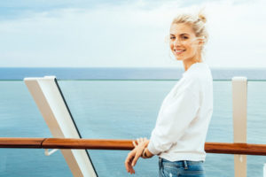 Lena Gercke auf AIDAperla. Foto: Felix Gänsicke / AIDA Cruises