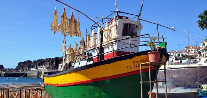 Fischerboot auf Madeira