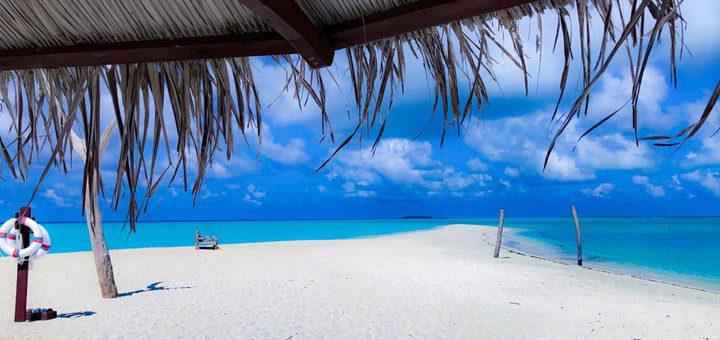 Palm Beach auf den Malediven
