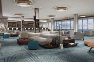 Himmel und Meer-Lounge auf der Mein Schiff 1. Foto: TUI Cruises