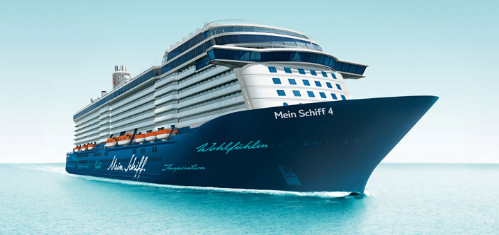 Mein Schiff 4 auf Kreuzfahrt. Foto: TUI Cruises