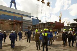 Kiellegung der Mein Schiff 5 auf der Meyer Werft in Turku. Foto: TUI Cruises