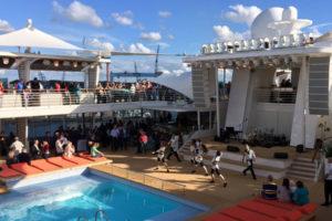 Auslaufshow auf der Mein Schiff 5