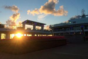 Sonnenuntergang auf der Mein Schiff 5