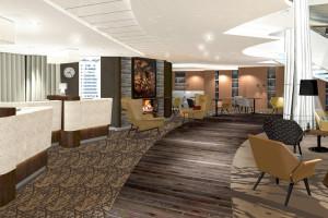 Rezeption auf der Mein Schiff 5. Foto: TUI Cruises