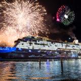 Mein Schiff 5 Taufe mit Feuerwerk. Foto: TUI Cruises