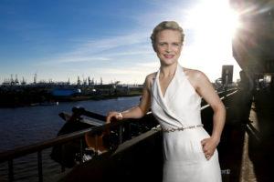 Iveta Apkalna bei der Mein Schiff 6 Taufe in Hamburg. Foto: TUI Cruises