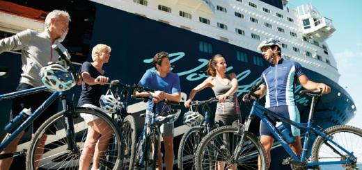 Bei einer Bike-Tour aktiv unterwegs mit Mein Schiff. Foto: TUI Cruises