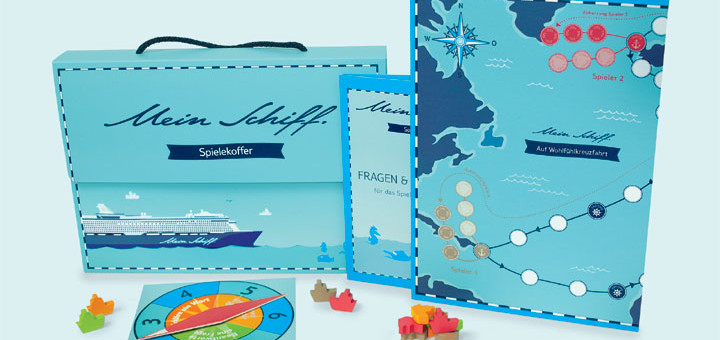 Mein Schiff Spielekoffer. Foto: TUI Cruises