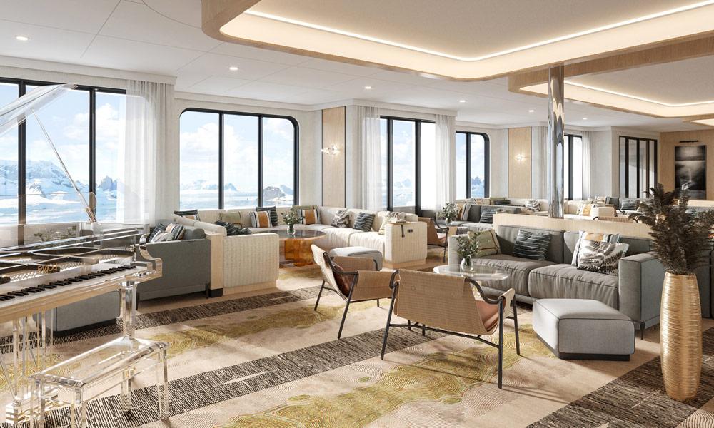 Lounge auf der Minerva von Swan Hellenic