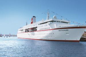 MS DEUTSCHLAND auf Kreuzfahrt. Foto: Reederei Peter Deilmann