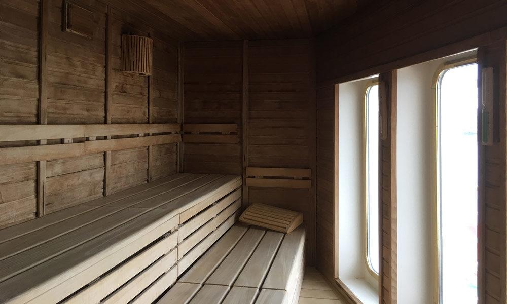 Sauna der MS Deutschland. Foto: Martin Schuster / Kreuzfahrtpiraten