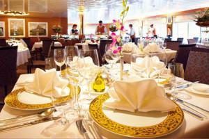 Restaurant Marco Polo auf MS HANSEATIC. Foto: Hapag-Lloyd Cruise