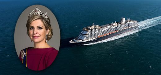 Königin Máxima der Niederlande ist Taufpatin von MS Koningsdam. Foto: Holland America Line