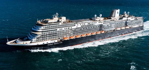 MS Koningsdam auf Probefahrt. Foto: Holland America Line