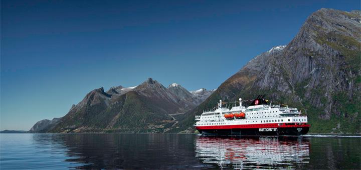 MS Nordlys von Hurtigruten in Norwegen. Foto: Hurtigruten