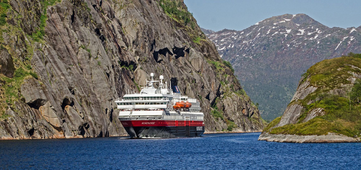 MS Nordnorge von Hurtigruten in Norwegen. Foto: Hurtigruten