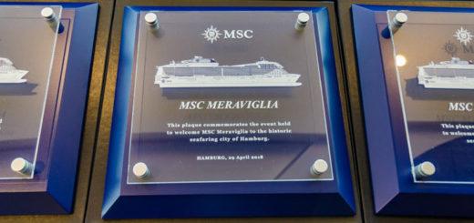 MSC Meraviglia Erstanlauf in Hamburg. Foto: Udo Horn