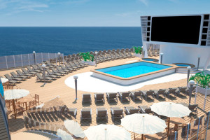 Pool auf der MSC Meraviglia