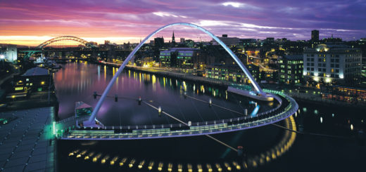 Millennium Bridge in Newcastle. Foto: DFDS Seaway