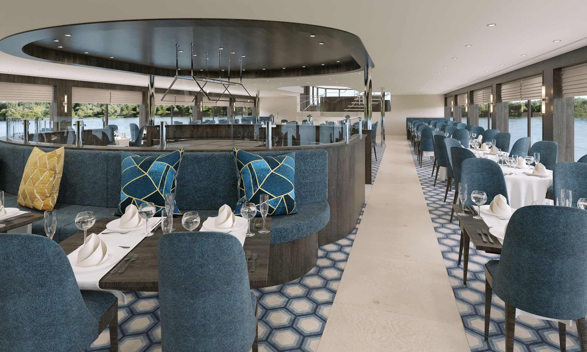 nickoVISION Hauptrestaurant. Foto: nicko cruises