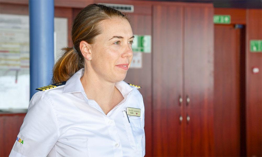 AIDA Kapitän Nicole Langosch. Foto: AIDA Cruises