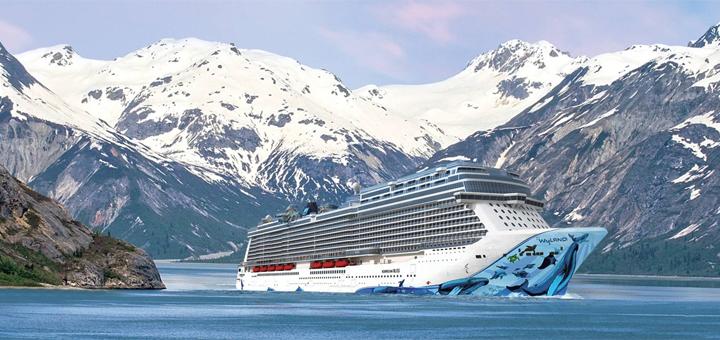 Norwegian Bliss in Alaska. Foto: Norwegian Cruise Line