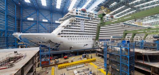 Norwegian Escape im Baudock II der Meyer Werft in Papenburg. Foto: Meyer Werft