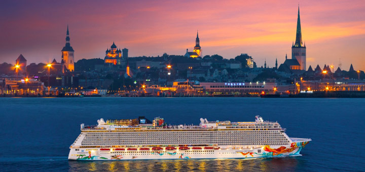Norwegian Getaway in Tallinn. Foto: Norwegian Cruise Line