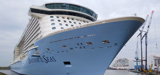 Ovation of the Seas im Baudock der Meyer Werft in Papenburg. Foto: Meyer Werft