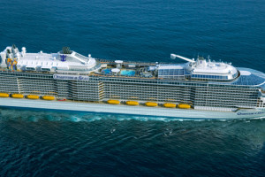Luftaufnahme der Quantum of the Seas. Foto: Royal Caribbean International