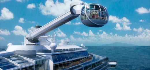 Rundblick mit dem North Star auf der Quantum of the Seas. Foto: Royal Caribbean International