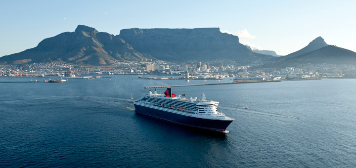 Queen Mary 2 in Kapstadt. Foto: Cunard Line