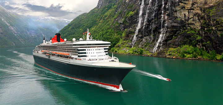 Queen Mary 2 in Norwegen. Foto: Cunard Line