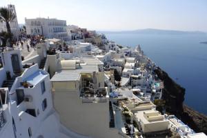 Auf Kreuzfahrt in Santorini, Griechenland. Foto: Cordula Mahr
