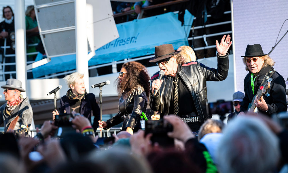 Udo Lindenberg auf dem Rockliner von TUI Cruises