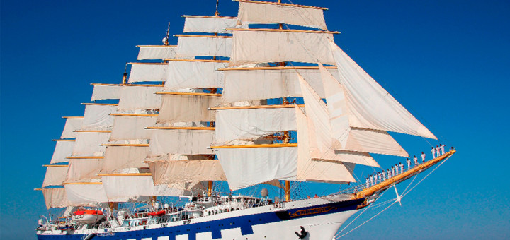 Royal Clipper im Mittelmeer