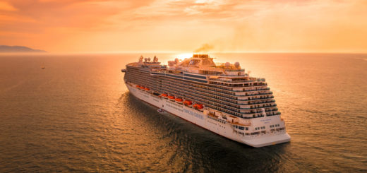 Royal Princess im Sonnenuntergang