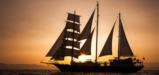 Running on Waves im Sonnenuntergang. Foto: Bow Line