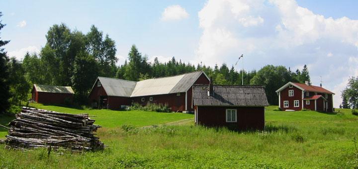 Typischer Hof in Schweden. Foto: Martin Schuster / Kreuzfahrtpiraten