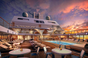 Pool auf der Seabourn Encore. Foto: Seabourn Cruise Line
