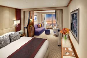 Veranda Suite auf der Seabourn Encore. Foto: Seabourn Cruise Line
