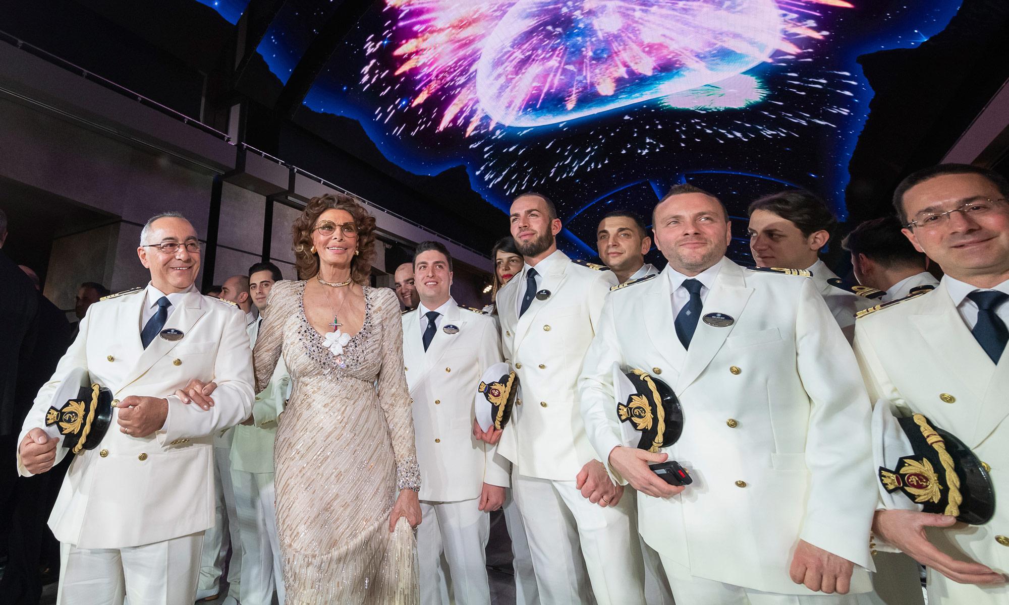 Sophia Loren MSC Bellissima Taufe